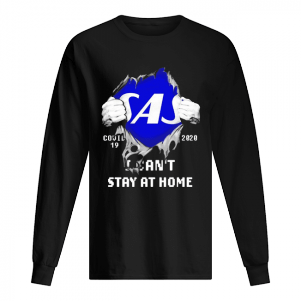 Blood Inside Me Scandinavian Airlines COVID-19 2020 I Can't Stay At Home  Long Sleeved T-shirt