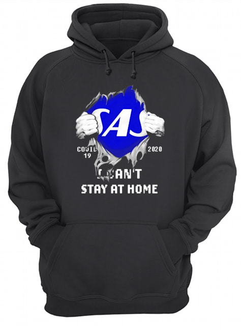 Blood Inside Me Scandinavian Airlines COVID-19 2020 I Can't Stay At Home  Unisex Hoodie