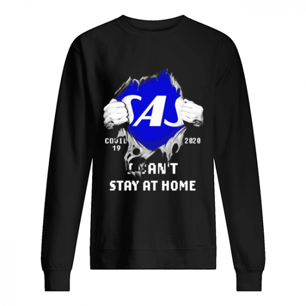 Blood Inside Me Scandinavian Airlines COVID-19 2020 I Can't Stay At Home  Unisex Sweatshirt