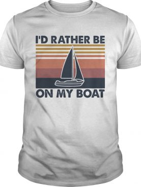 Id rather be on my boat vintage shirt