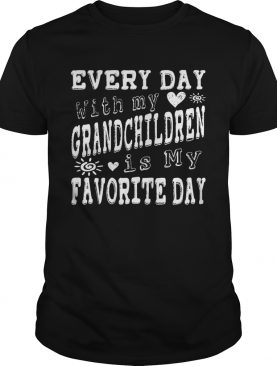 Every Day With My Grandchildren Is My Favorite Day Vintage shirt