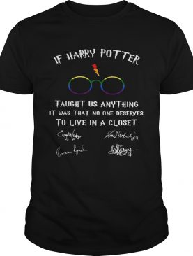 Happy LGBT If Harry Potter Taught Us Anything It Was That No One shirt