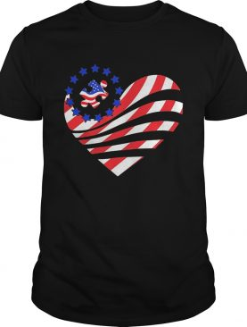 Independence Day autism heart shirt
