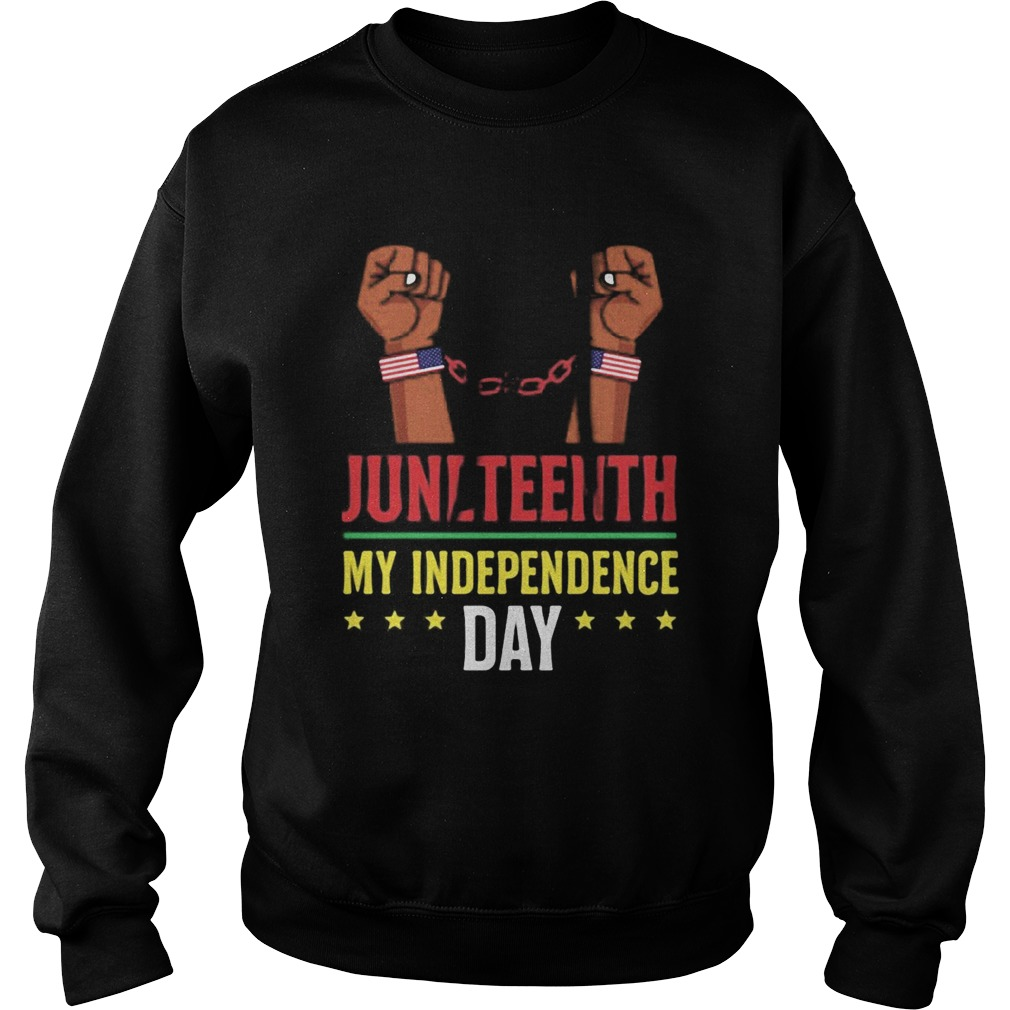 Juneteenth june 19th independence day stars Sweatshirt