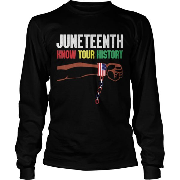 Juneteenth know your history american flag independence day  Long Sleeve