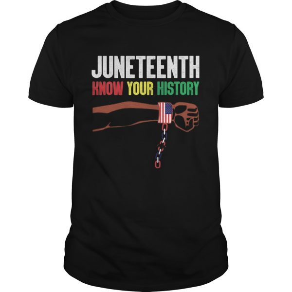 Juneteenth know your history american flag independence day  Unisex