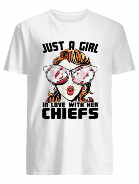 Just a girl in love with her kansas city chiefs shirt