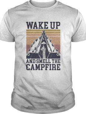 Retro Navy Wake Up And Smell The Campfire Vintage shirt