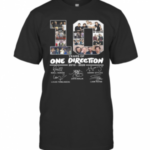 10 Years Of One Direction 2010 2020 Signature T-Shirt Classic Men's T-shirt