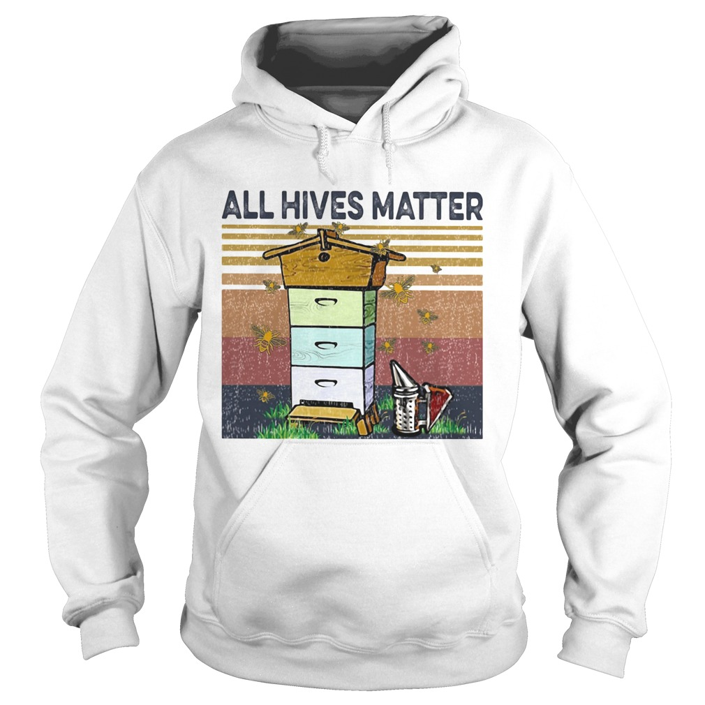 Bee all hives matter vintage retro Hoodie