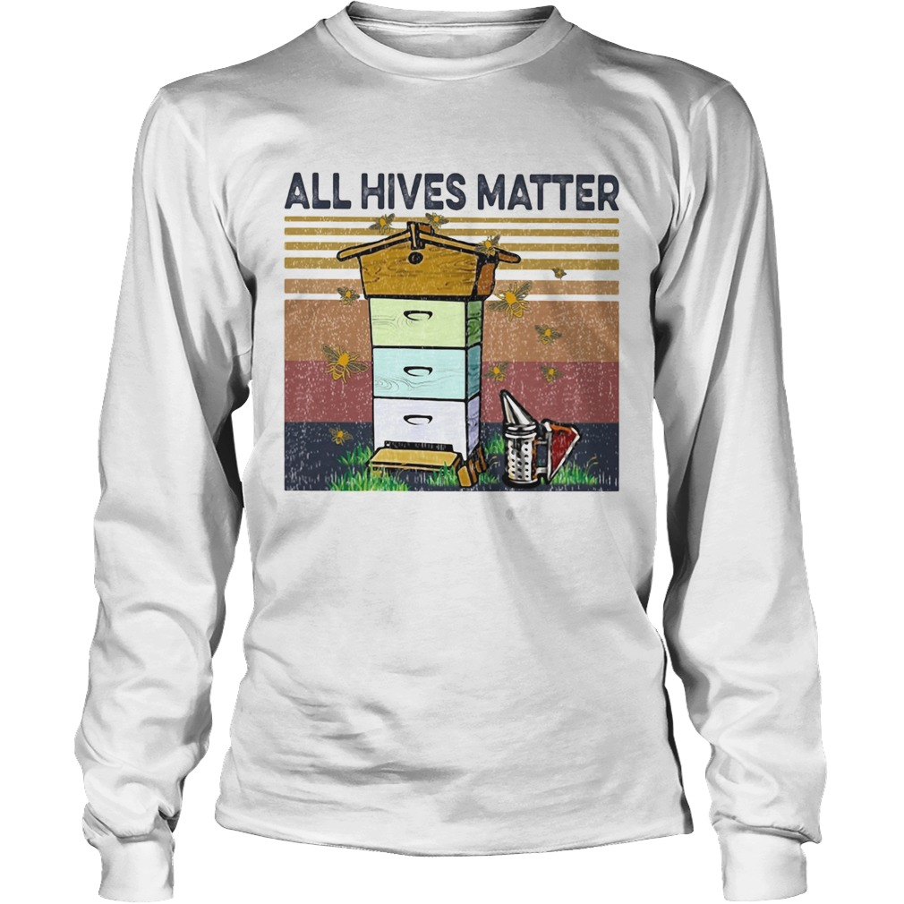 Bee all hives matter vintage retro Long Sleeve