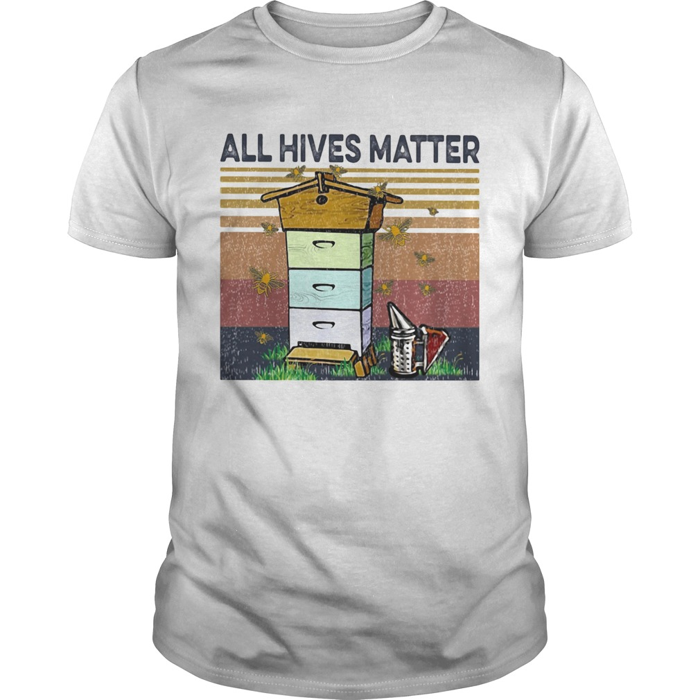 Bee all hives matter vintage retro Unisex