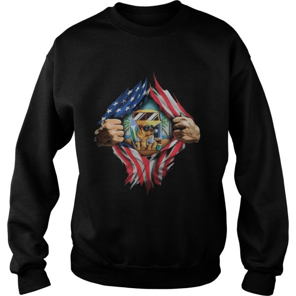 Blood insides camping pug american flag independence day  Sweatshirt