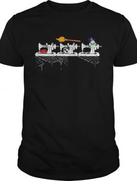 Halloween sewing witch and skull shirt