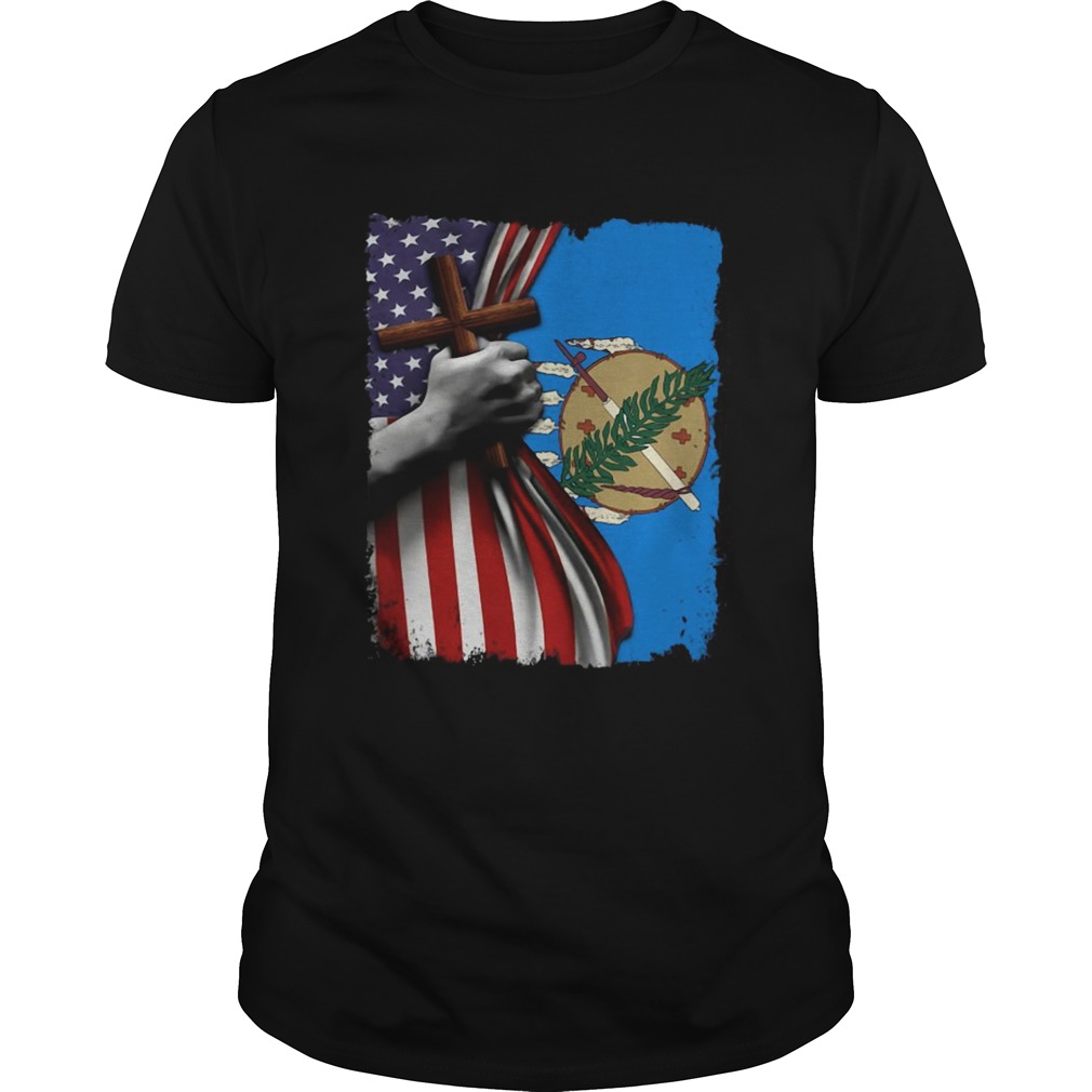 Oklahoma american flag cross happy independence day Unisex