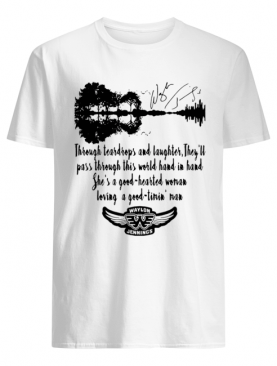 Waylon Jennings Through Teardrops And Laughter They'll Pass Through This World Hand In Hand She's A Good Hearted Signature shirt