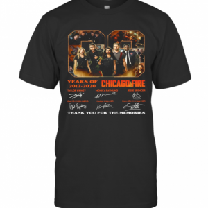 08 Years Of 2012 2020 Chicago Fire Thank You For The Memories Signatures T-Shirt Classic Men's T-shirt