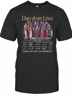 Days Of Our Lives 55Th Anniversary Full Cast Signature Thank You For The Memories T-Shirt