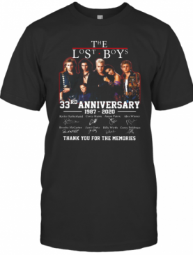 The Lost Boys 33Rd Anniversary 1987 2020 Thank You For The Memories Signatures T-Shirt