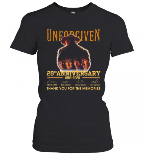 Unforgiven 28Th Anniversary 1992 2020 Thank You For The Memories Signatures T-Shirt Classic Women's T-shirt