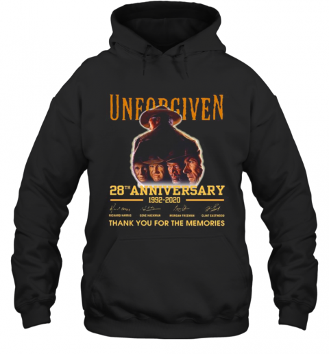 Unforgiven 28Th Anniversary 1992 2020 Thank You For The Memories Signatures T-Shirt Unisex Hoodie