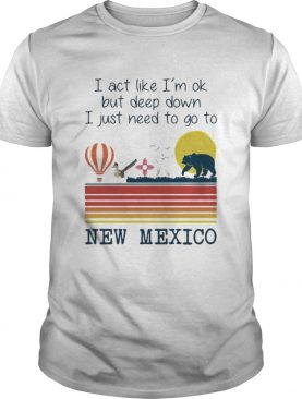 I Act Like Im Ok But Deep Down I Just Need To Go To New Mexico Vintage shirt
