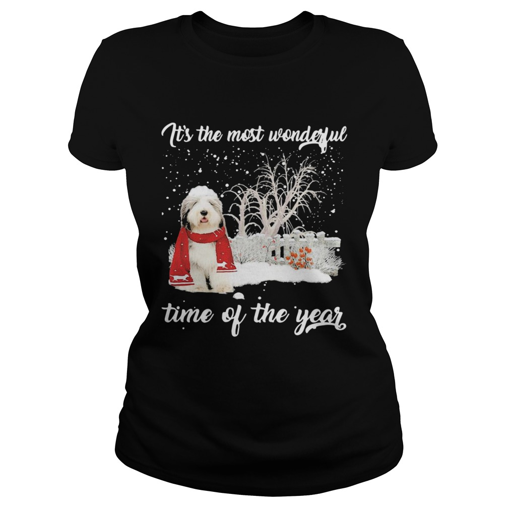 Sheep Dog Its The Most Wonderful Time Of The Year Christmas Classic Ladies