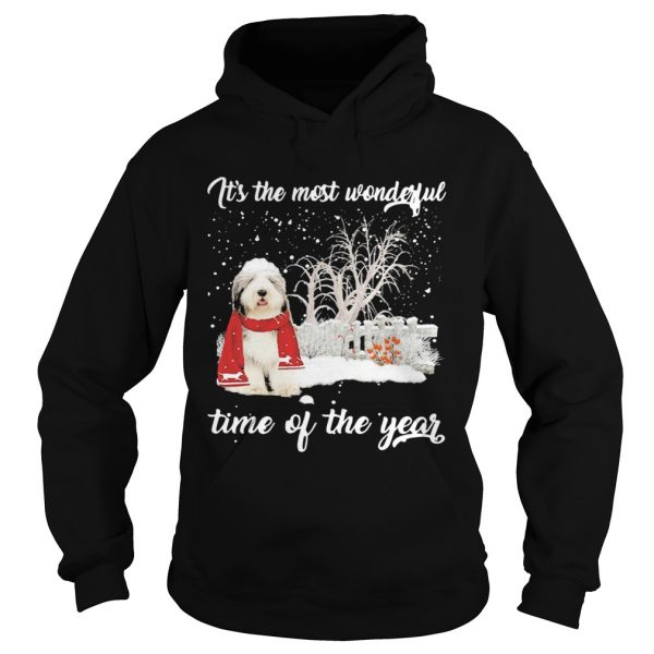 Sheep Dog Its The Most Wonderful Time Of The Year Christmas  Hoodie