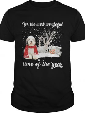 Sheep Dog Its The Most Wonderful Time Of The Year Christmas shirt