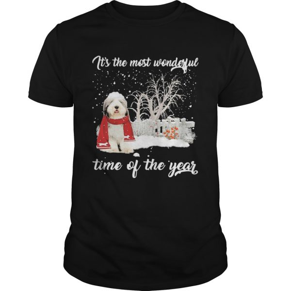 Sheep Dog Its The Most Wonderful Time Of The Year Christmas  Unisex