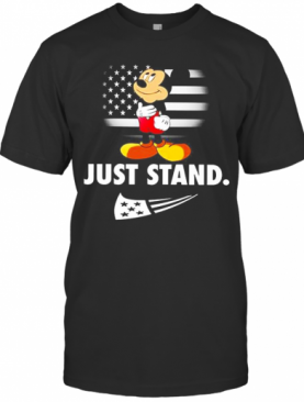 Mickey Mouse Just Stand American Flag T-Shirt