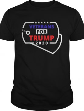 Veterans For Trump 2020 Dog Tags Red White and Blue shirt