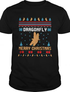 Butterfly Dragonfly Merry Ugly Christmas shirt