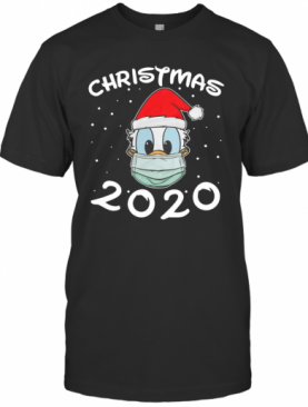 Face Donald Santa Wear Mask Merry Christmas 2020 Christmas T-Shirt