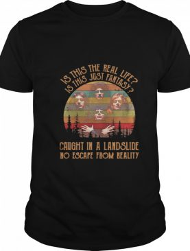 Is This The Real Life Is This Just Fantasy Caught In A Landslide No Escape From Really Vintage shirt