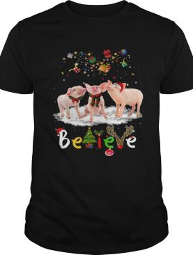 Santa Pig Believe Christmas shirt