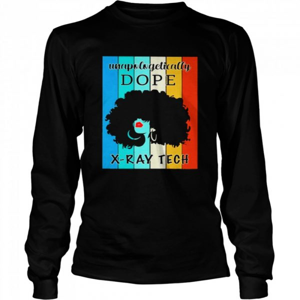 Black Girl Unapologetically Dope XRay Tech Vintage  Long Sleeved T-shirt