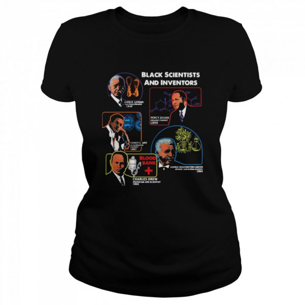Black Scientists And Inventors Lewis H Latimer 1848 Percy Julian 1899  Classic Women's T-shirt