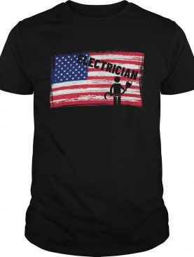 Support Your Local Electrician Usa American Flag Patriotic shirt