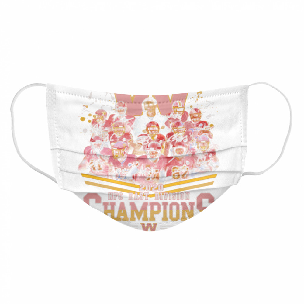 2020 Nfc East Division Champions Football Signature Cloth Face Mask
