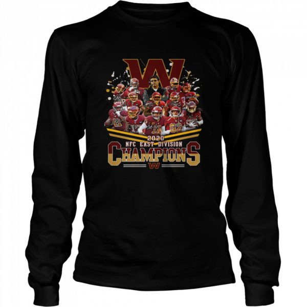 2020 Nfc East Division Champions Football Signature  Long Sleeved T-shirt