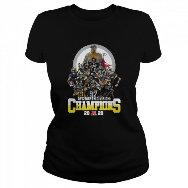 AFC North Division Champions Pittsburgh Steelers Signatures  Classic Women's T-shirt