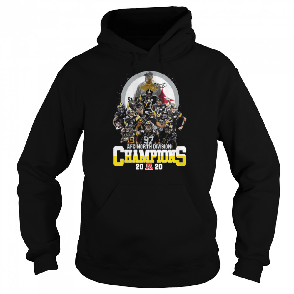 AFC North Division Champions Pittsburgh Steelers Signatures Unisex Hoodie