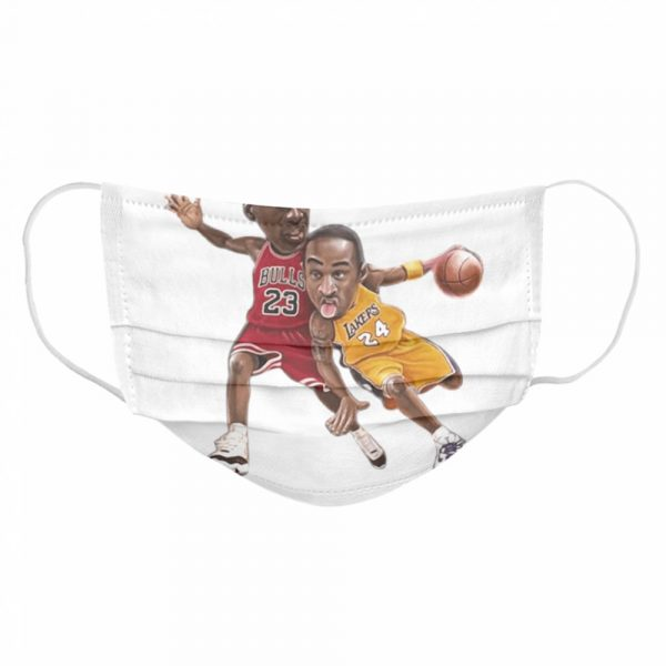 Lebra James and Kobe Bryant  Cloth Face Mask