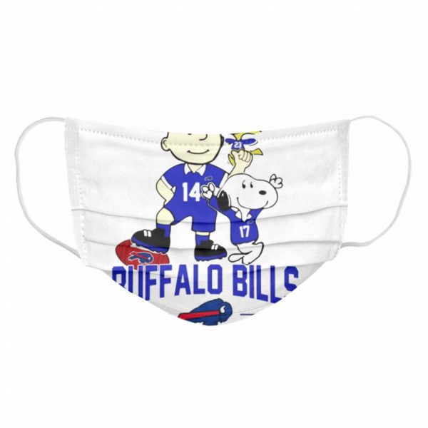Snoopy and Charlie Brown Buffalo Bills  Cloth Face Mask
