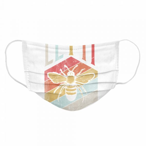 Vintage Bee Let It Bee Letter Print Spring  Cloth Face Mask